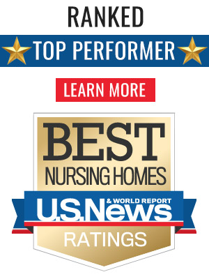 Ranked top performer and one of the best nursing homes in the area.