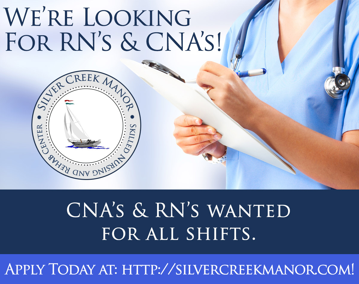 Hiring RNs and CNAs. Apply now.