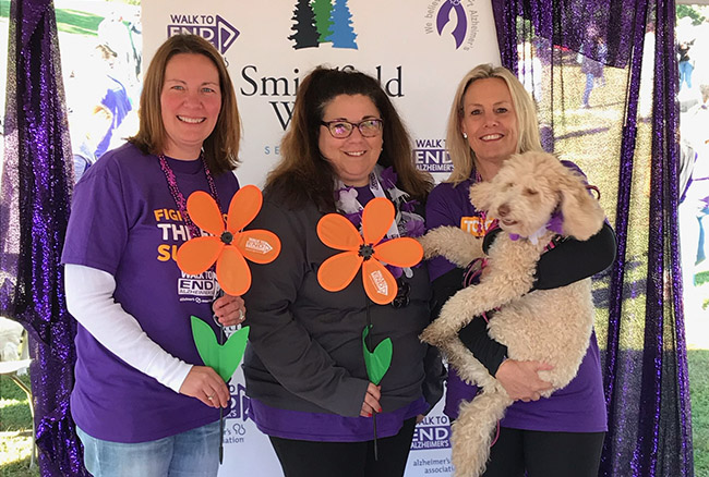 photo of the alzheimers walk starting point